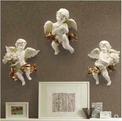 Beautiful Cupid Little Angel Crafts Wall Hanging, Creative Home Office Wall Decorations