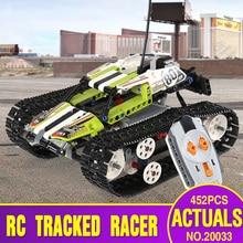 DHL 20033 452 шт. Technic серия 42065 RC трек дистанционное управление гоночный автомобиль набор образовательных строительных блоков кирпичный мотор автомобиль игрушки