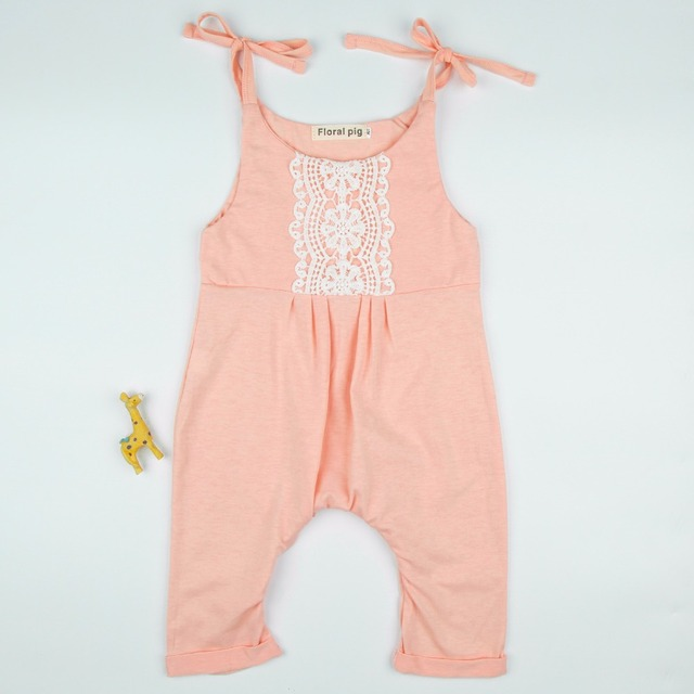 3859f3ac5a4 Lace Romper Pink Newborn Baby Girl Cotton Jumpsuit Summer 2018 Baby Girl  Clothes Cute Clothing 0-24M