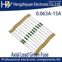 Axial Lead Green Fuse 125/250V 0251 1/8A 1/4A 63mA 125mA 250mA 1A 2A 3A 3.15A 4A 5A 7A 8A 10A 15A Fast Blow PICO Resistance Fuse 30 pcs 500ma 1a 2a 3 15a 4a 5a 10a miniature square radial lead micro fuse for pcb t1a t2a t3 15a t5a t500ma t4a t10a 250v 392