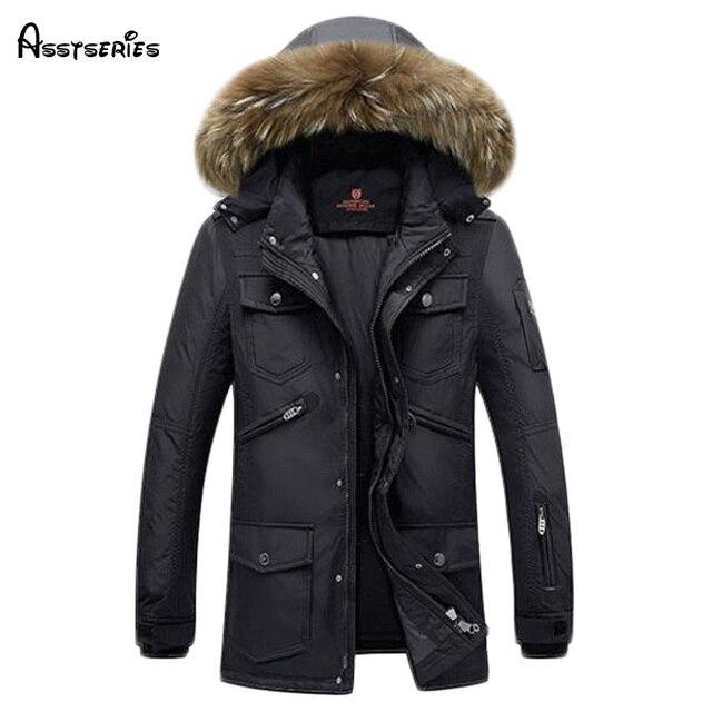 Бесплатная доставка брендовая Парка мужская зимняя куртка мужская теплая Толстая фирменные куртка хлопок-стеганая куртка мужская куртка пальто 140hfx