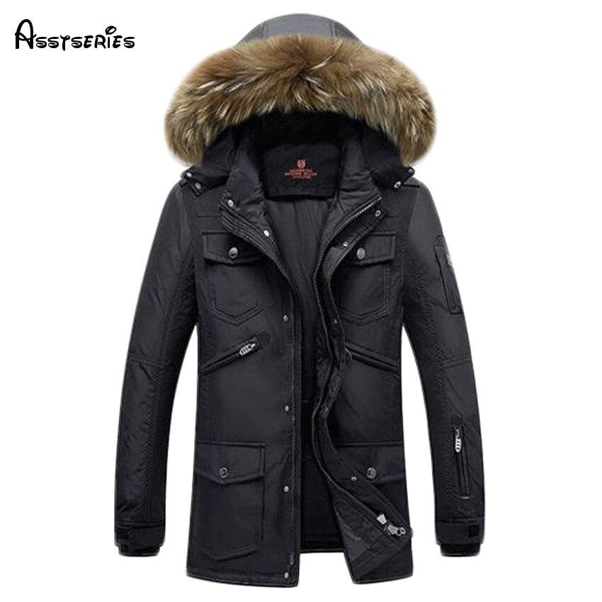 Free shipping Brand parka men Winter jacket men warm thick branded jacket Cotton-Padded Jacket mens parka coat 140hfx