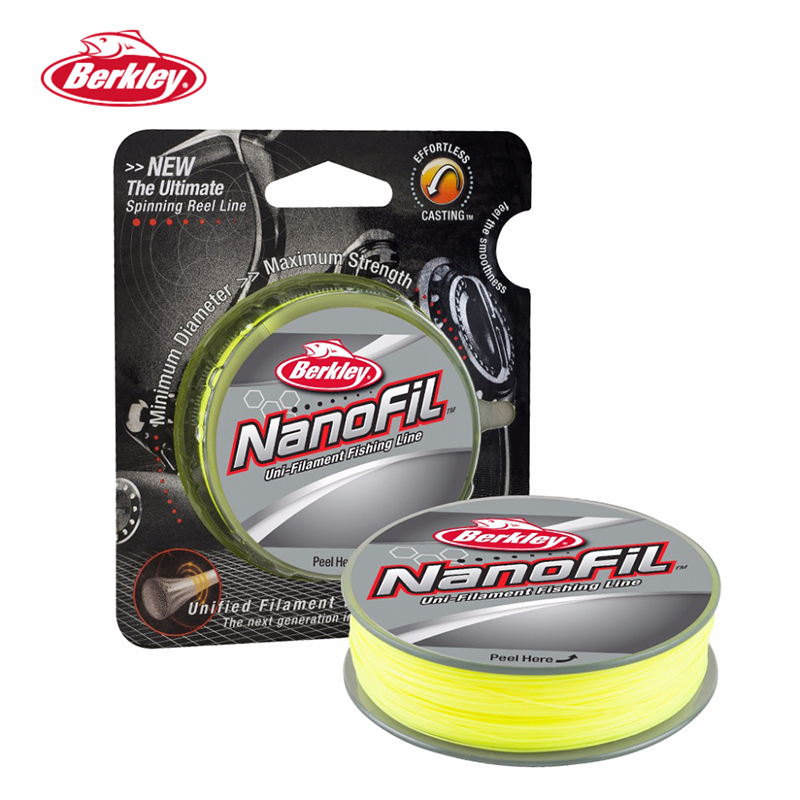 Berkley NanoFil 150yd 137m Fishing Line  Hi-Vis Chart Uni-Filament Casting Line Zero-Memory High Strength/Diameter Ratio Pesca
