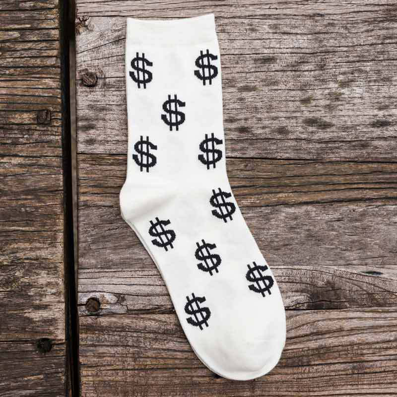 5pairs/lot Cotton Mens Long Socks Causal Printed Pattern Male Socks Comfortable Breathable Business Dress Socks Spring Autumn