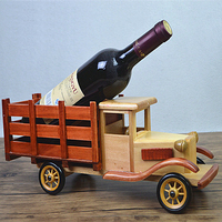 Creative Wooden Car Wine Holder Classical Wooden Wine Racks Personalized Fashion decoration Office decoration