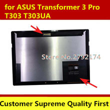 "Nieuwe Originele 12.6 ""Lcd + Touch Screen Digitizer Vergadering Voor Asus Transformer 3 Pro T303 T303UA Wqhd + 2880*1920(China)"