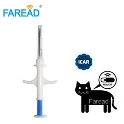 Микрочип для питомцев x100шт., 134,2 кГц, для собак, FDX-B, 2,12*12 мм, чип для имплантации животных, шприц для идентификации кошек и рыбы, для использова...