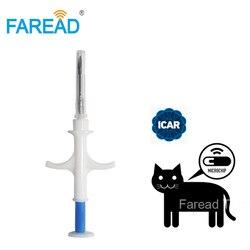 X100pcs 134.2 KHz puce pour animaux de compagnie pour chien FDX-B 2.12*12mm puce animal ID implant seringue chat poisson identification vétérinaire abri utilisation