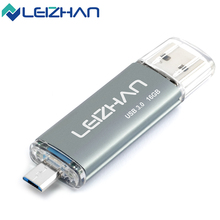 LEIZHAN Real Capacity USB Flash Drives 3.0 32GB Smartphone Pendrive 16gigabyte OTG Flash Pen Drive Memory Stick Mobile U Disk 8G