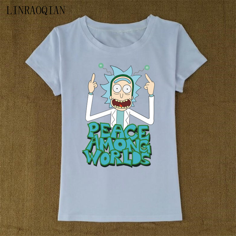 Rick And Morty Peace Among Worlds Women/'s T-Shirt
