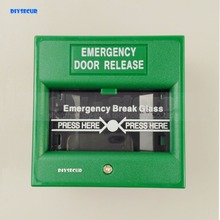DIYSECUR 2pcs/lot Emergency Switch Exit Button Door Release Glass Break Alarm Button For Access Control System