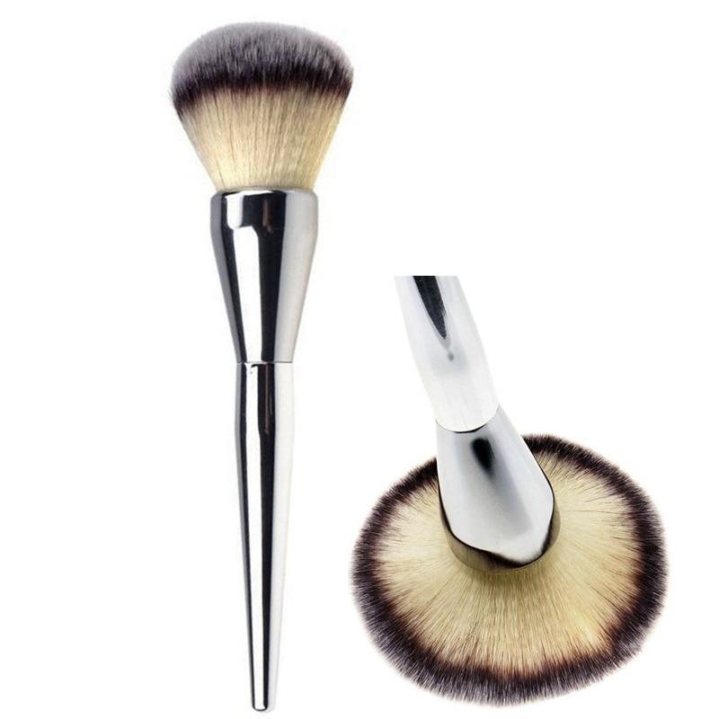 Very Big Beauty Powder Brush Blush Foundation Round Make Up Tool Large Cosmetics Aluminum Brushes Soft Face Makeup make up factory blush brush