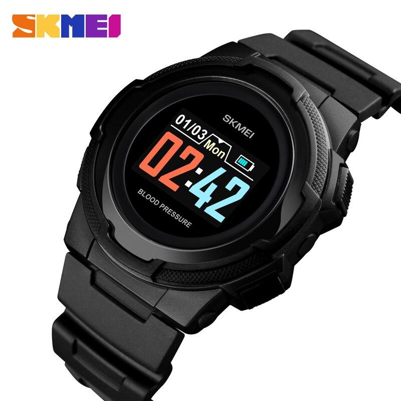 Digital Led Smart Watch Women Men For Android IOS Smartwatch Fitness Tracker New Electronics Smart Clock Sport Wach SKMEI 2019