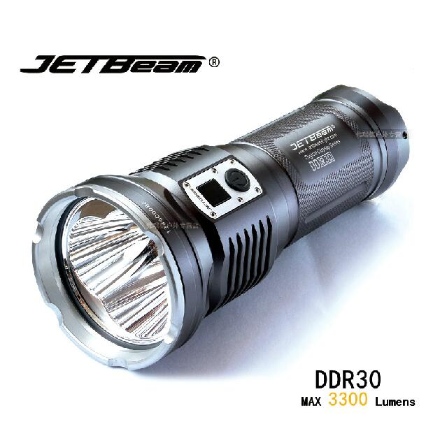 Original JETBEAM DDR30 Cree XM-L2 LED 3300 lumens led flashlight daily torch Compatible with 3*18650 battery for self defense jetbeam c8 rechargeable led flashlight torch 1000 lumens cree xm l2 for outdoor search sescue hiking camping with 18650 charger