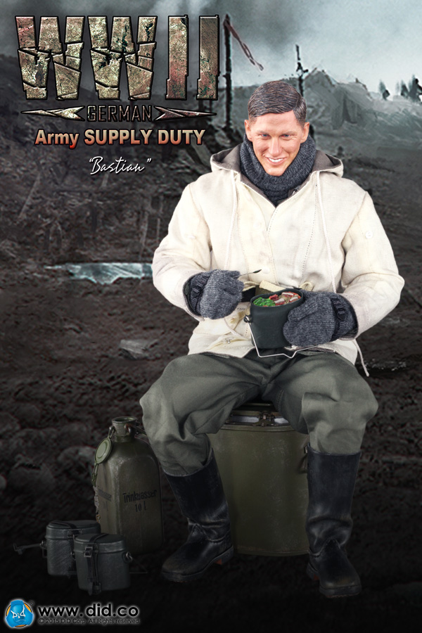 1/6th scale Military figure Plastic model toy Battlefield Army SUPPLY DUTY  Bastian 12 Action figure doll Collectible Figure tamiya model 1 35 scale military models 35318 bt 42 plastic model kit