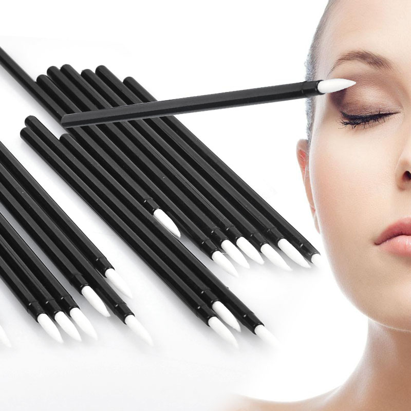 Cool 50 PCS Disposable MakeUp Lip Brush Lipstick Gloss Wands Applicator Make Up Must-Have Cosmetic Tools