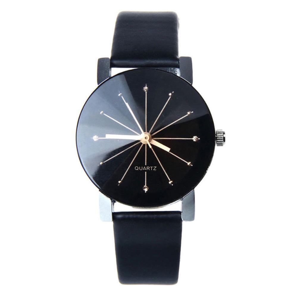 Montre Fashion Women Alloy Faux Leather Watches Quartz Sports Dress Wrist Watch Couple Watch Relogios