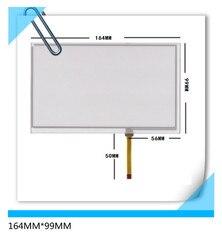 164*99 nova 7 polegada resistência de navegação do carro DVD tela sensível ao toque de 164 MM * 99 MM Frete grátis