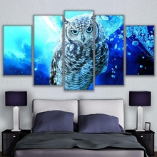 5 pcs,Full Square 5D DIY Diamond Painting Blue Owl Full diamond Embroidery mosaic Cross Stitch Rhinestones Y2253