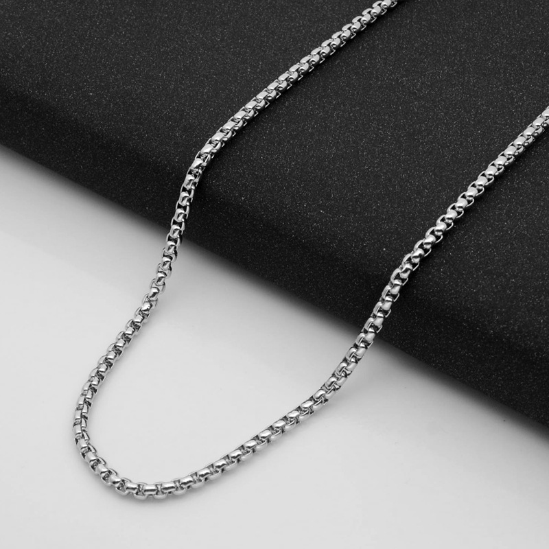 Fashion Women and Men Necklace Chains Width 2.5mm 3mm 3.5mm 4mm 5.5mm Stainless Steel Pendant Chains For DIY Jewelry Making