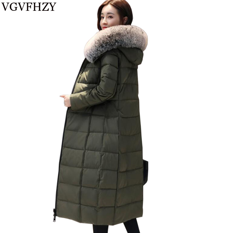 2018 New Winter Women s Warm Down Coat Long High quality Brand White Duck Down ladies Jacket Plus size Female parka for women