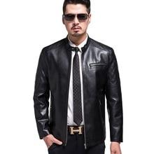 Thanksgiving Day KUYOMENS High Quality New Style Brand Luxury Fashion Men's Leather Jacket 3XL Business Casual Haining Leather Jacket Men Coats