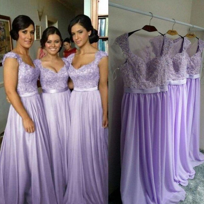 Country Bridesmaid Dresses A Line Lilac Bridesmaid Dress Long ...