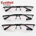 Nova chegada de metal armações de óculos meia moldura para Homens moda prescrição quadro eyewear venda quente 9319