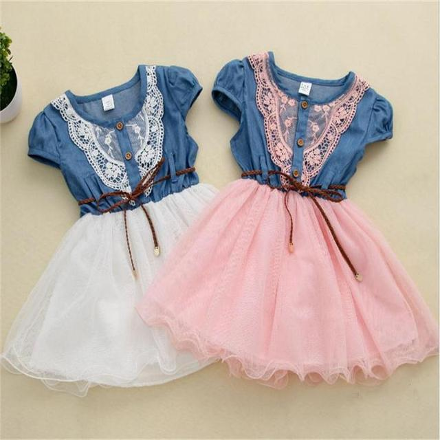 12ad9a6f9c59 2018 Hot Sale Fashion Baby Girl Summer Jeans Tutu Dress with Belt ...