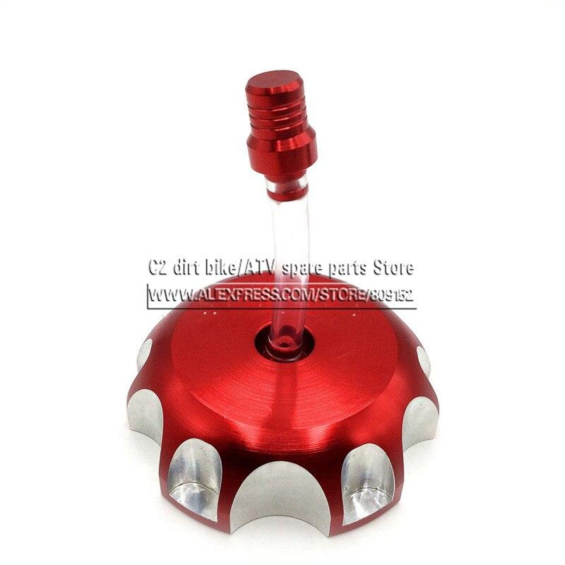Billet Aluminium Gaz Combustible Du Réservoir D'essence Bouchon XR CRF CRF250R CRF250X CRF450R CRF450X XR250 XR600 XR650 XR400 Moto Rouge