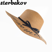 2016 Summer Women Sun Hat Ladies Wide Brim Straw Hats Outdoor Foldable Beach Panama Hats Church Hat Bone Chapeu Feminino(China)
