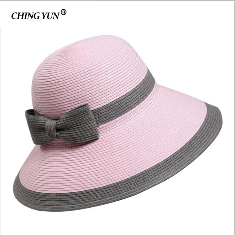 db4b2cc3f0c Women s Sun Hat Big Bow Wide Brim Floppy Summer Hats For Beach .