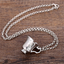 Once Upon A Time Rumbelle Bella Clip Tea Cup necklace&pendant environmental alloy jewelry