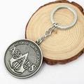 1PCS Assassins Creed Logo Skeleton Key Chain Metal Keychains Video Game Key Ring wholesale jewelry  5G63