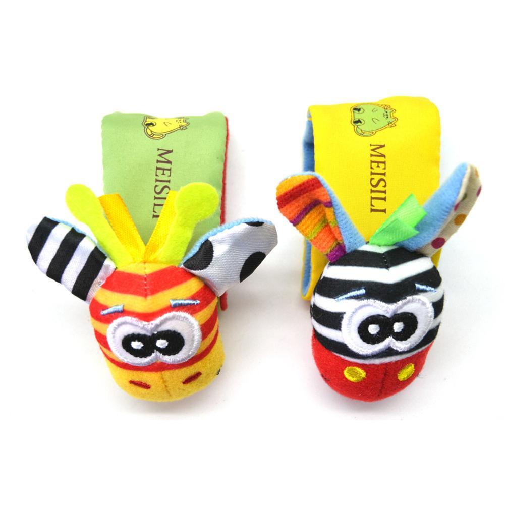 LeadingStar 1PC/Set Wrist Rattle Educational Toy Baby Cartoon Cute Figure Toy