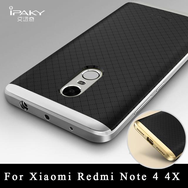 cheap for discount b9d78 86051 Xiaomi Redmi Note 4 4x Case ipaky brand Xiaomi Redmi Note 4 Pro Prime  silicone Back Cover + PC Frame For xiaomi redmi Note4 case