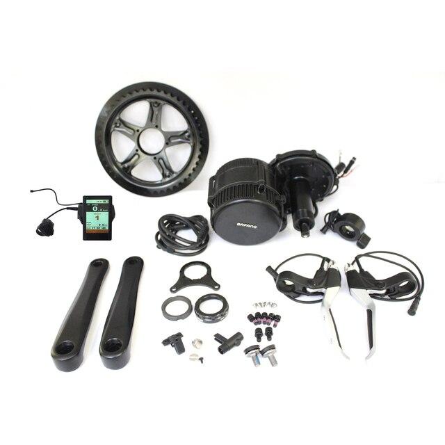 EU duty free Bafang BBS02 48V 500W Ebike Mid Drive Motor Conversion Kits 46T Electric Bicycle Controller BB 68mm TFT850C Display