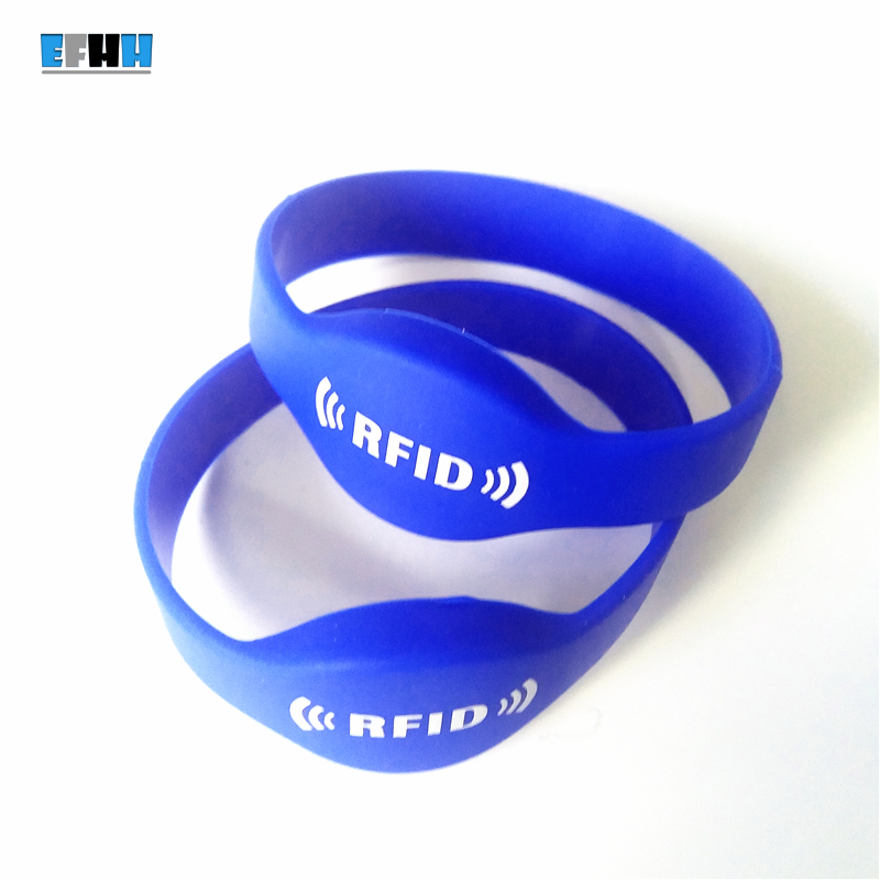 13.56Mhz FM11RF08 MF 1K S50 RFID Bracelet Silicone NFC Wristband Watch Card Wrist Band Access Control Card Blue