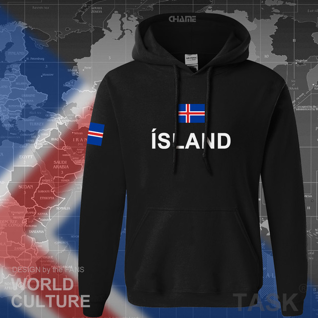 Iceland hoodie men sweatshirt sweat new hip hop streetwear island nation clothing 2017 sporting country ISL Icelander Icelandic 1
