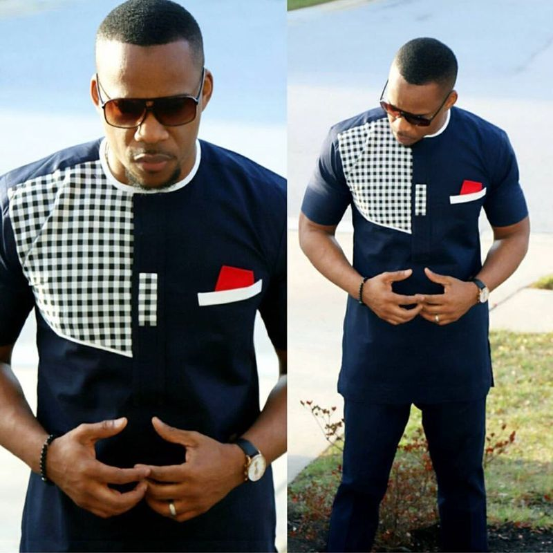 Dashiki African Men Clothes 2019 Riche African Clothing For Men 2 Two Piece Suits Dashiki Shirt With Trouser Ensemble Homme