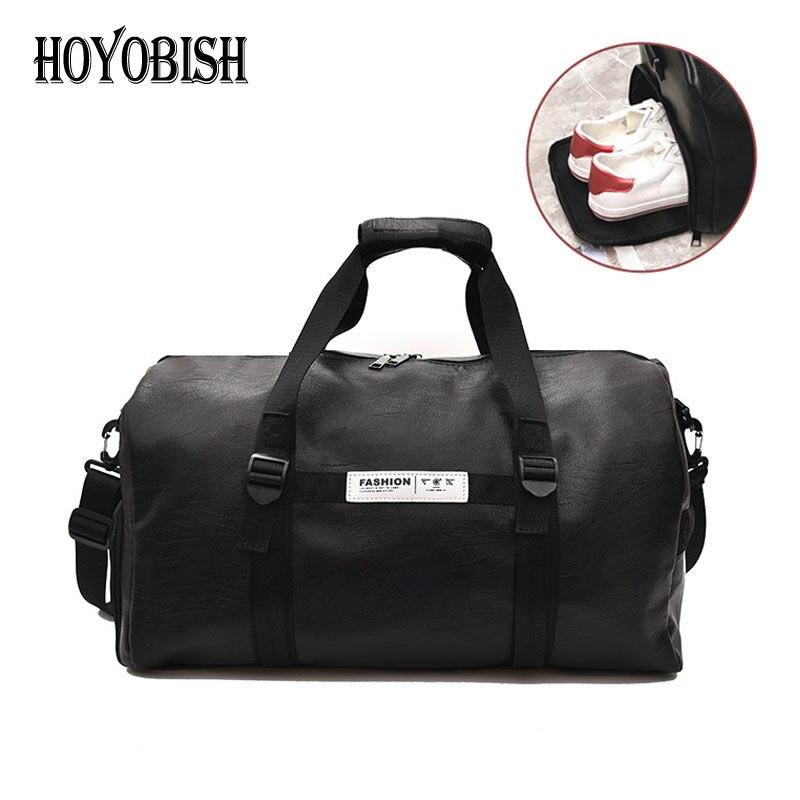 HOYOBISH Hot Sell Korean Style Leather Travel Bag Couples Large Capacity Duffle