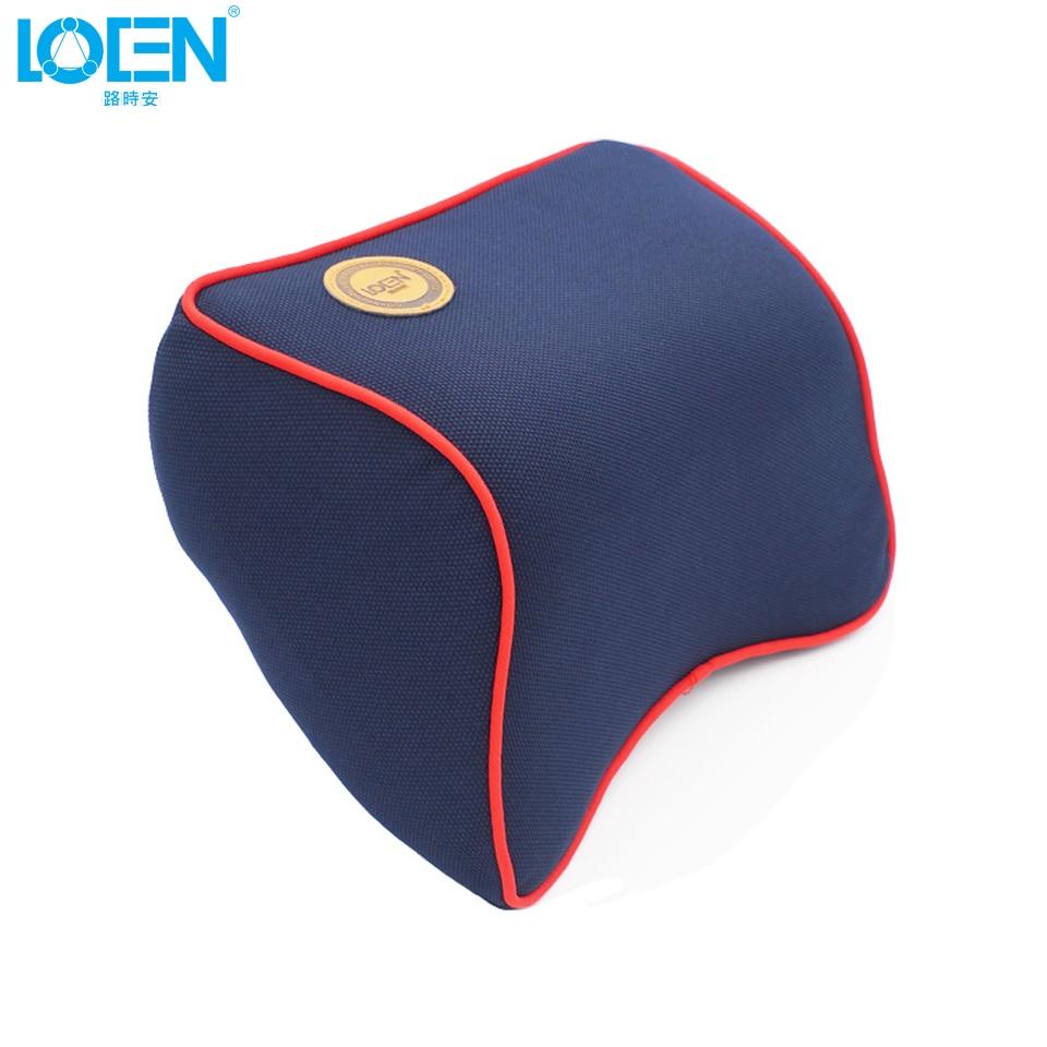 LOEN 1PCS High Quality Space Memory Foam Car Lumbar Support Pillow Auto Neck Pillow Headrest Lumbar Pillow Fabrics Pillow