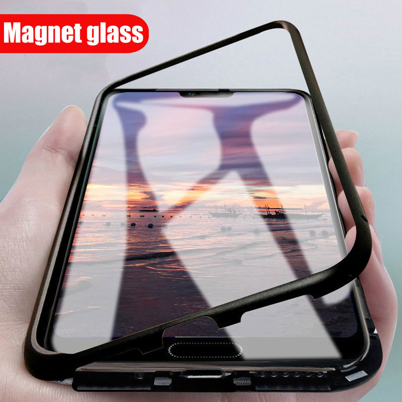 <font><b>360</b></font> Magnetic Flip Cover for <font><b>Samsung</b></font> Galaxy S10 Plus <font><b>Case</b></font> Tempered Glass Metal Magnetic Adsorption <font><b>Case</b></font> for <font><b>Samsung</b></font> S8 S9 <font><b>Note</b></font> <font><b>8</b></font> image