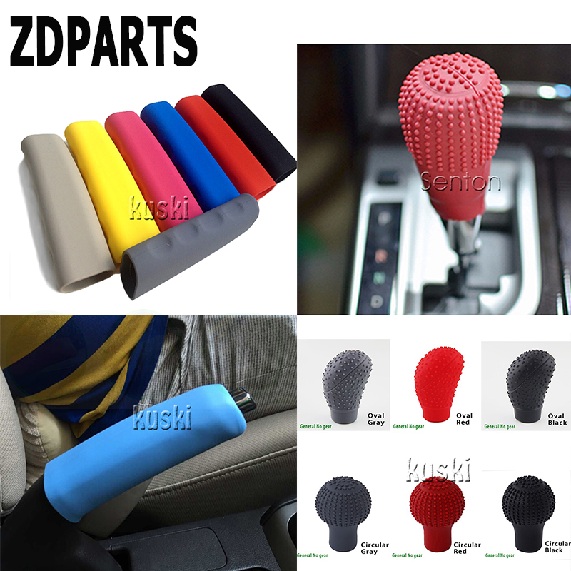 ZDPARTS 1PC Car Gears Shift Knob Bandbrake Cover For VW Passat B5 B6 B7 Golf 4 7 6 T5 T4 Polo Mazda 3 6 CX-5 CX-3 Jeep Skoda Kia