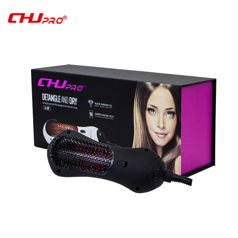 CHJ Hair Dryer Brush Infrared Professional Electric HairDryer Ionic Hair Styler Ceramic Hair Straightener Curler braun 3in1 multifunctional hair styling tool hairdryer hair curler hair dryer blow dryer comb brush hairbrush professional as720