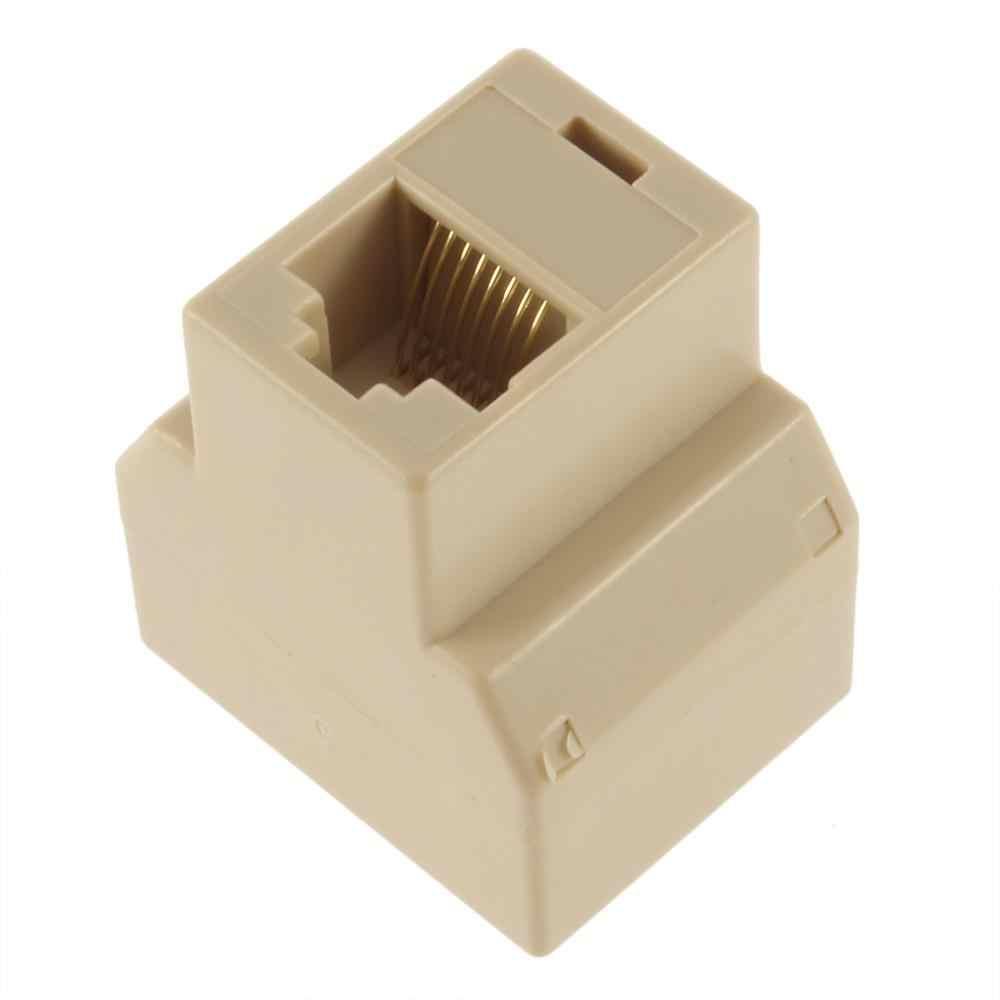1 ila 2 Yollu LAN Ethernet Kablosu Ağ Kablosu RJ45 Kadın Splitter Bağlayıcı Adaptörü