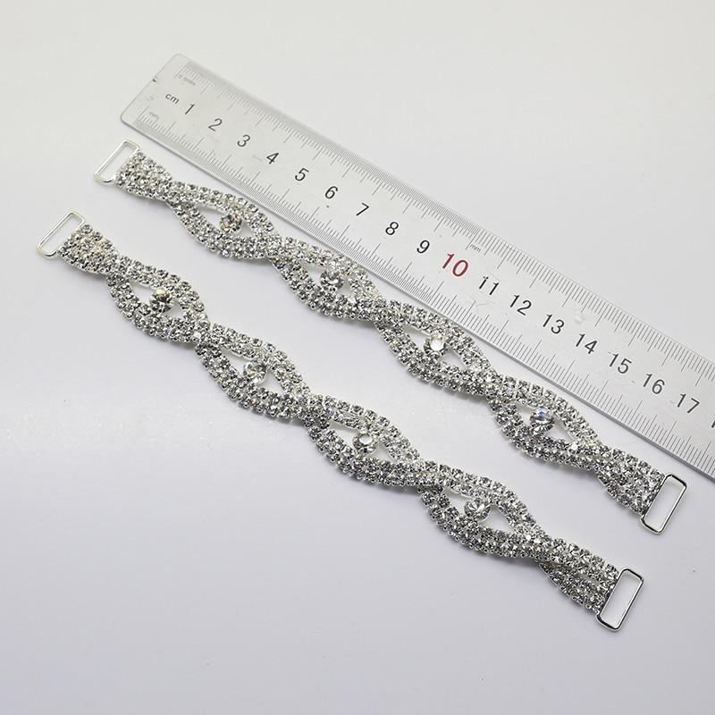 Nowa cena sprzedaży 2 sztuk / partia 170mm Cyrkonie Bikini Klamry Stroje kąpielowe Połączenie biustonosza Dekoracyjny diamentowy łańcuch Kryształ Kulturystyka
