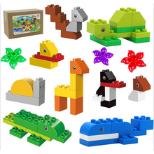 DOLLRYGA Big Size DIY Building Blocks Figures Animal Accessories Toy For Children Large Brick 50pcs jouet enfant lote Kid Craft