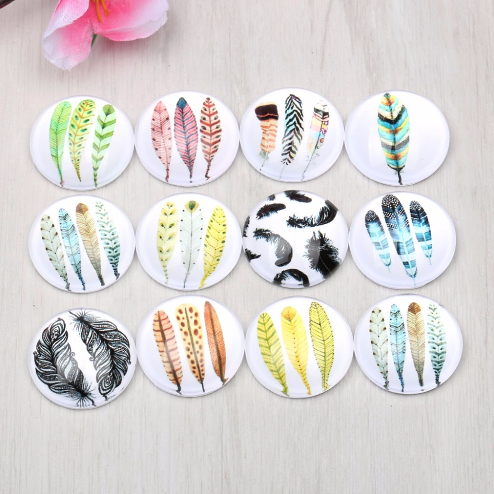 onwear glass cabochon 12mm 20mm mixed round dome plume feather photo handmade jewelry findings for earrings pendants makingonwear glass cabochon 12mm 20mm mixed round dome plume feather photo handmade jewelry findings for earrings pendants making