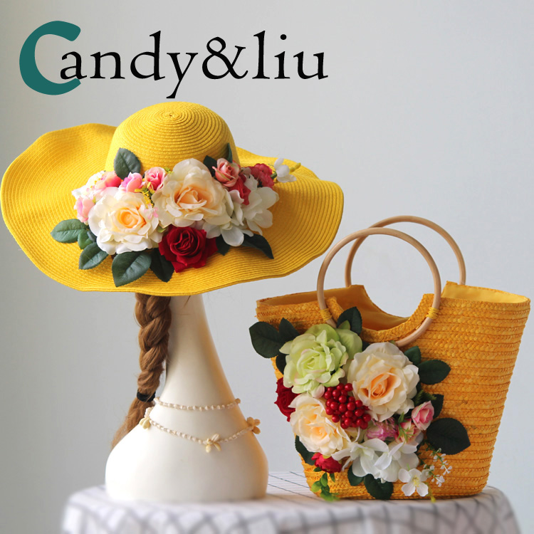 Women Casual Beach Bags Female Summer Purse Vintage Knitting Weave Straw Handbags for Holiday Outfit Boho